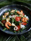 Салат з креветкою, кальмаром та кораловим грибом (250г)