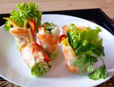 Smażone krewetki roll