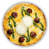 Pizza Cistelletes de Xampinyons amb Pesto (mitjana)