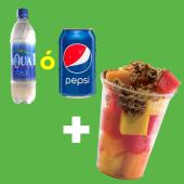 Bebida (330 ml.) + snack de fruta