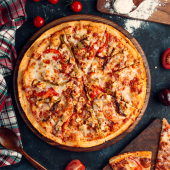 Pizza Pompeya bbq crispy (mediana)