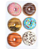 Caja de donuts decorados variados (6 uds.)
