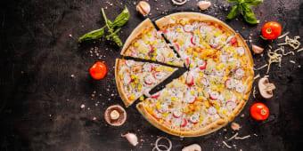 Піца з крабовим м'ясом (520г)
