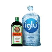 Jaguer 700 ml + hielo iglu 1.5 kg