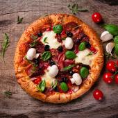 Pizza milano de masa madre
