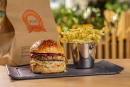 Meniu dublu cheese burger