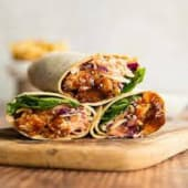 Hot Barbeque Chicken Wrap