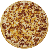 Pizza full cheese y tocino (grande)