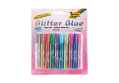 Blt.10 Tubos Cola Glitter Folia 574