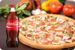 Pizza mundial XL + Gaseosa (1.35 lt.)