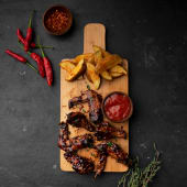 BBQ Chicken Wings 6Pcs