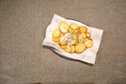 Cartofi prajiti cu Kefalotyri