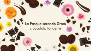 Gelato al cioccolato + crema fondente + biscotti
