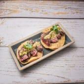 Taco crujiente de Picanha Brasileña (3 uds.)