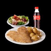 Combo light - filete de pollo, papa perejil, ensalada y gaseosa