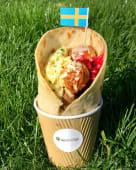 Swedish Hotdog with meatballs