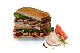 Sándwich de pollo barbacoa premium