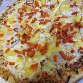 Pizza americana hawaiana