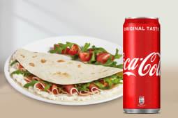 Piadina Emiliana + Coca-cola