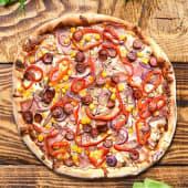 Pizza barbeque cu carnati Ø 30cm