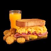 Menú gran sándwich de jamón y queso