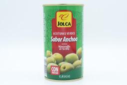 Aceituna Jolca Sabor Anchoa Con Hueso 185 Gramos.