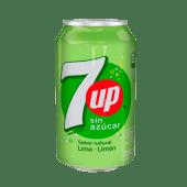 7 Up Lima Limón Sin Azúcar  (354 Ml.)