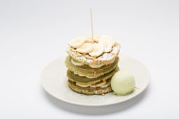 MACHA pancakes banana sweet