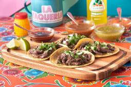 Tacos con arrachera (4uds.)