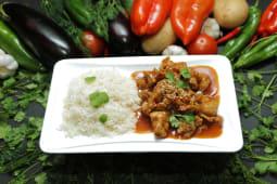 Курица чили кориандр с рисом