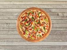 Pizza Double Poulet Sauce BBQ - Pâte Traditionnelle