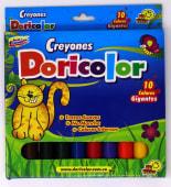 Crayones Colores Largos Gruesos Jgox10Un Cja Carton