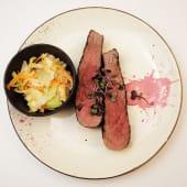 Bistecca argentina cu salata coleslaw