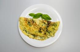 Omleta cu spanac si mozzarella + racoritoare  - 500ml