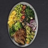 Mayo Siriracha Chicken Poke Bowl