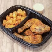 Combo pollo rustido + patatas fritas + salsa a elegir