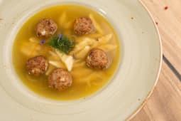 Суп с куриными фрикадельками (350г.)