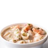 Ceviche de calamar y camarón