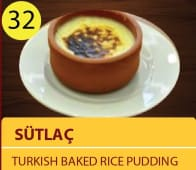 Sultac - Turkish baked rice pudding