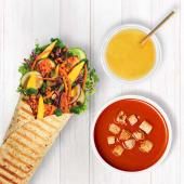 Wrap Green Tajski + Sok + Zupa