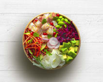 Poke bowl exotic coco seabream