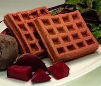 Waffles de remolacha congelados