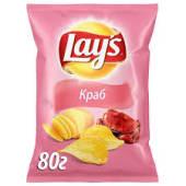 Чіпси картопляні зі смаком крабу Lay's (133г)