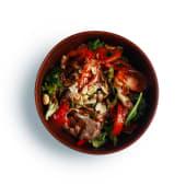 Салат із яловичини з овочами і арахісом (220г)