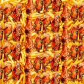 1kg 20pcs wings + chips