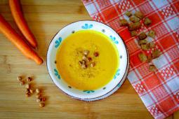 Supa crema de morcovi si naut