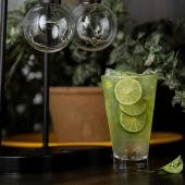 Sparkling soda de limón, hierba buena y menta (12 oz.)