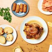Combo 2: Pollo a l'ast entero, 4 croquetas de pollo a l'ast