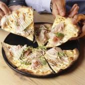 Pizza funghi e porchetta