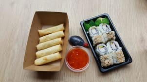 California roll plus spring rolice